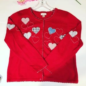 Vintage Christopher & Banks Red Grandma Sweater